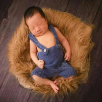 50*85cm Newborn Baby Photography Faux Fur Blanket Props Baby Girl Boy Photo Shoot Studio Posing Fur Blanket fotografia Accesory