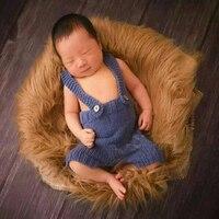 50*85cm Newborn Baby Photography Faux Fur Blanket Props Baby Girl Boy Photo Shoot Studio Posing Fur Blanket fotografia Accesory