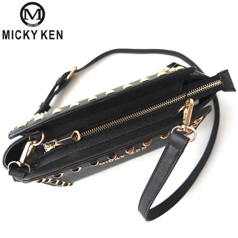 ミッキーケンブランド女性高級クラッチレディース携帯イブニング財布有名なデザイナーリベットカジュアルショルダーストラップメッセンジャーショルダーバッグ
