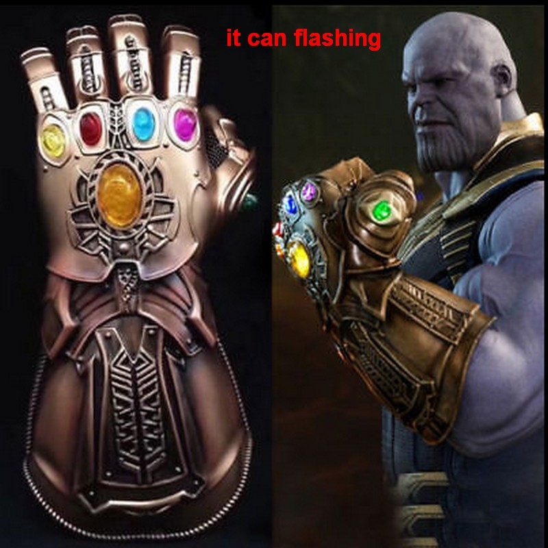 Hot Movie Avengers: Infinity War Thanos Infinity Gauntlet Led Luminous Gloves Cosplay Accessories Prop 1:1 Avengers props high quality 2018 avengers 3 1 1 thanos glove halloween cosplay prop thanos infinity war gloves