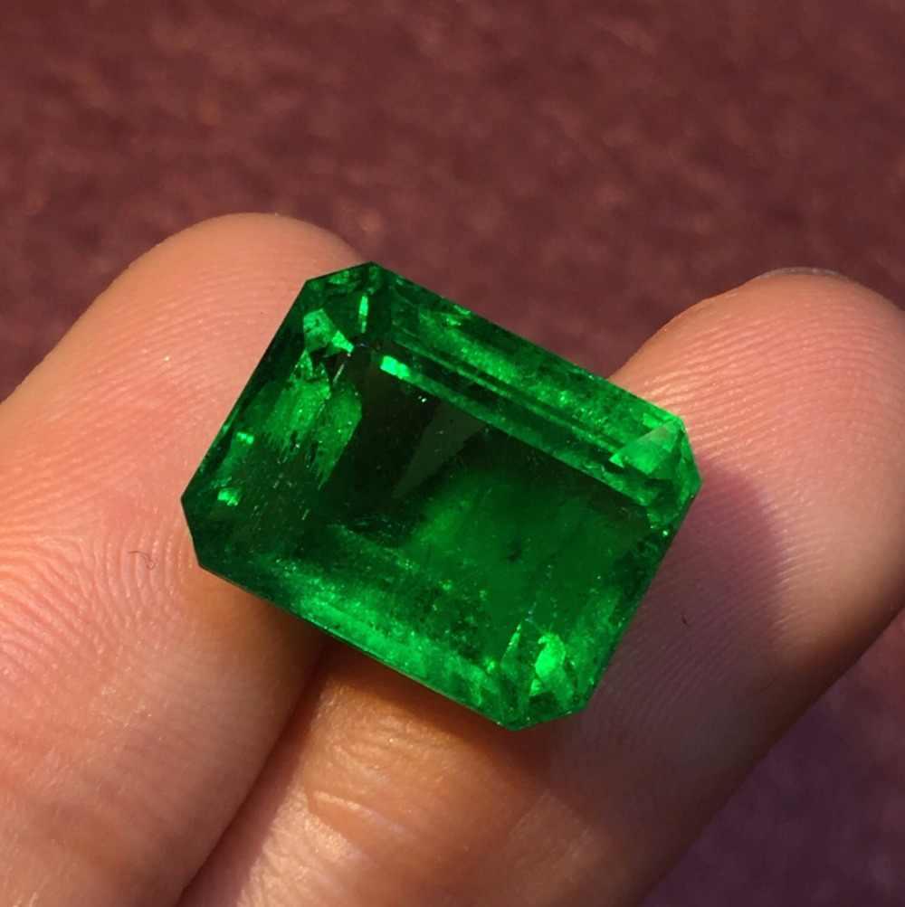 318 חן GRS Cert זמביה 10.57ct פיאות חי ירוק טבעי אמרלד אבני חן Loose אבני חן רופף אבן אבני חן