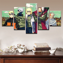 Teacher and pupil NARUTO Anime 5 Piece Poster Decorative Home Decor Picture HD Print Paintings on Canvas Wall Art