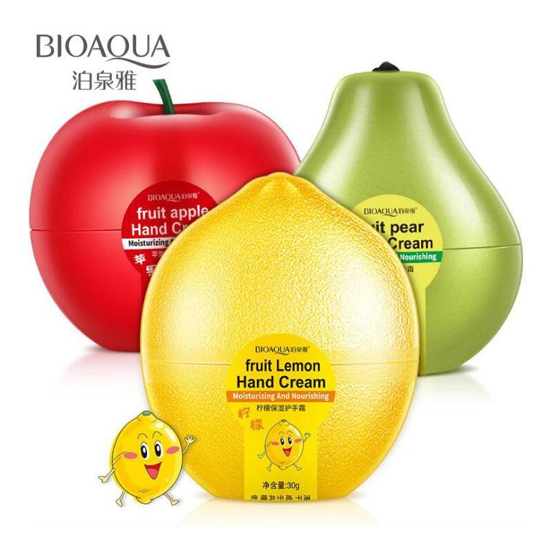 BIOAQUA Fruit Pear Lemon Peach Mango Banana Moisturizing Hydrating Hand Cream For Winter Hand Care Nourishing Skin Care