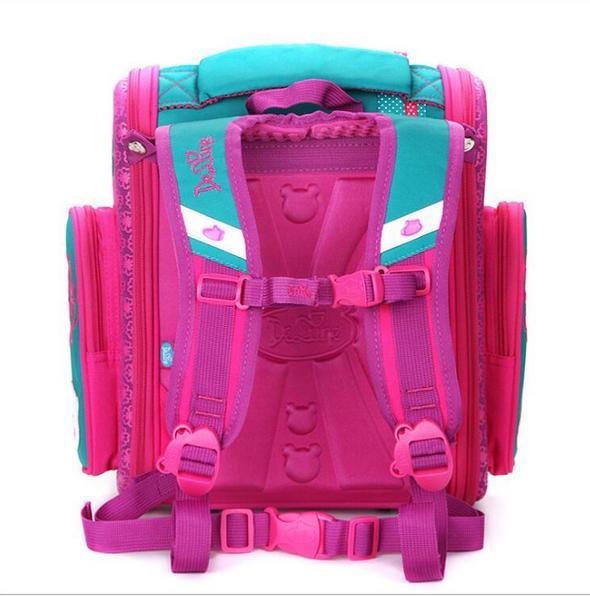 Delune школьный рюкзак медведь кошка бабочка 3D печати desgine Winx eva ортопедическая детская школьная сумка