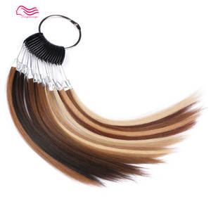 100% european hair color ring/color chart for kosher wig , jewish wigs , color ,