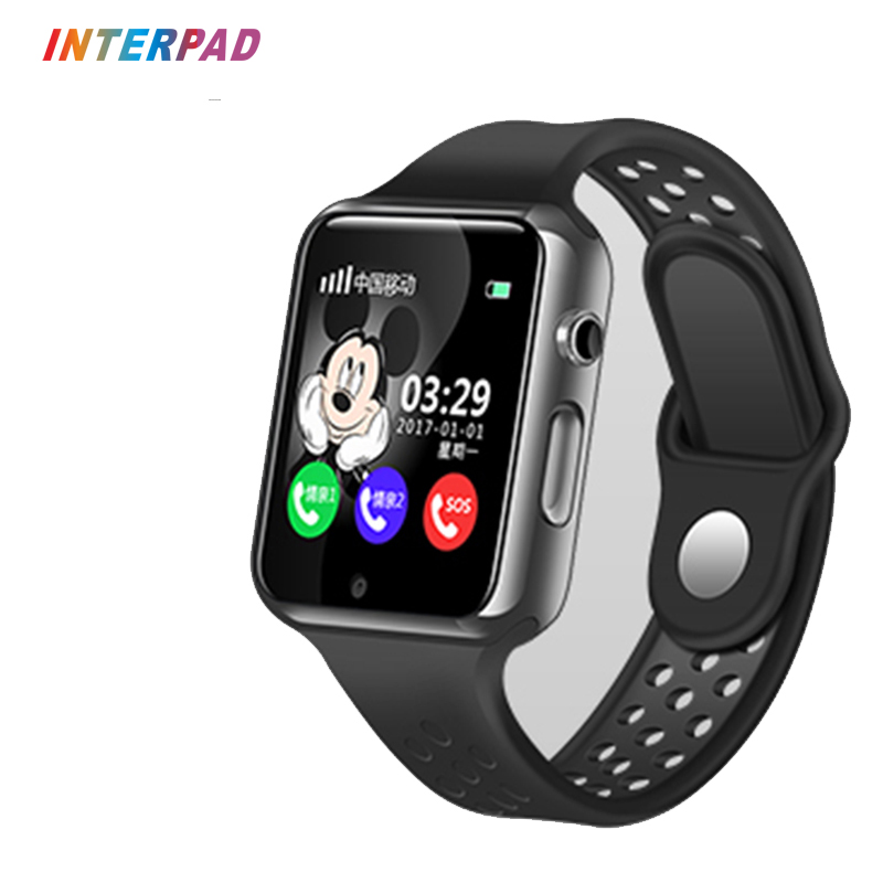 Galleria fotografica Interpad Smart Baby Watch GPS With Camera Waterproof Sleep Monitor <font><b>Smartwatch</b></font> SOS Anti-lost Touch Screen Support SIM For Kids