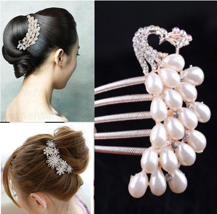 Crystal Jewelry Insert Comb Hairpins Women Hair Accessories