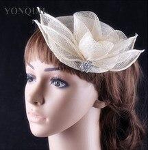 16 Colors fashion sinamay material women s ivory hair party fascinator headwear headband wedding headpiece show