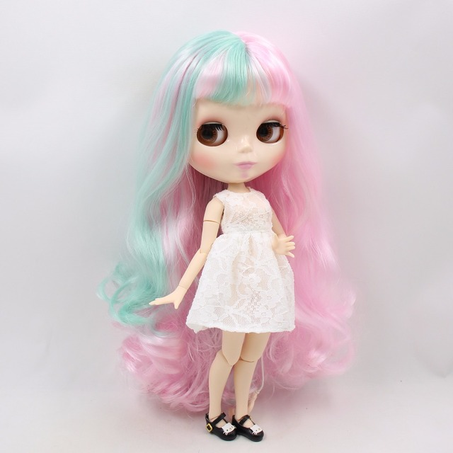 TBL Neo Blythe Doll Pink Mint Green Hair Jointed & Regular Body