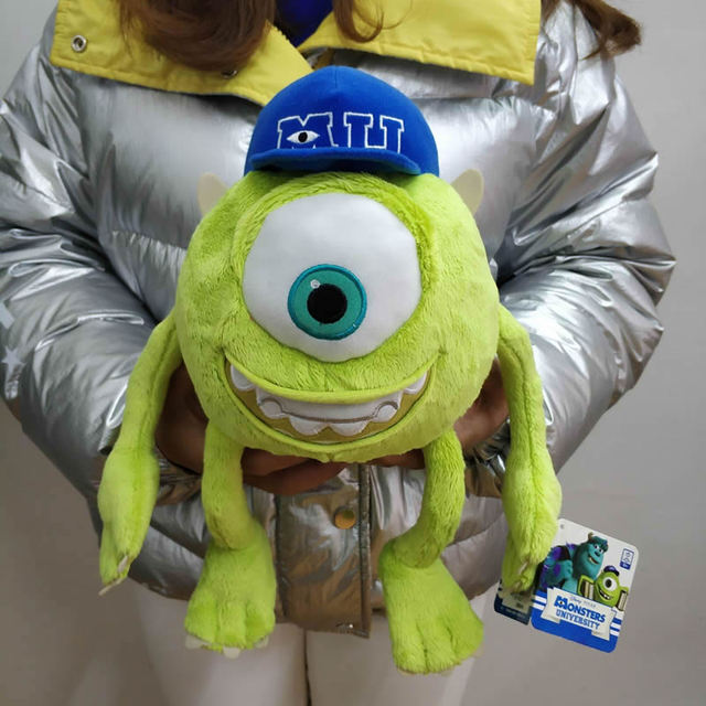 Envío Gratis 32 CM 12,6 ''monstruos originales Inc Mike Wazowski juguete de  felpa monstruos Universidad suave muñeca de peluche para regalo de niños