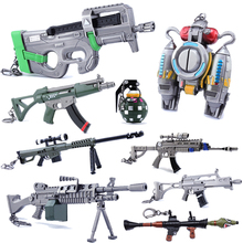 28 Styles Action Figure Fortress Fortnight Keychai Battle Royalen FORTNIT Scar Rifle Weapon Model Alloy Toys For Children PUBG