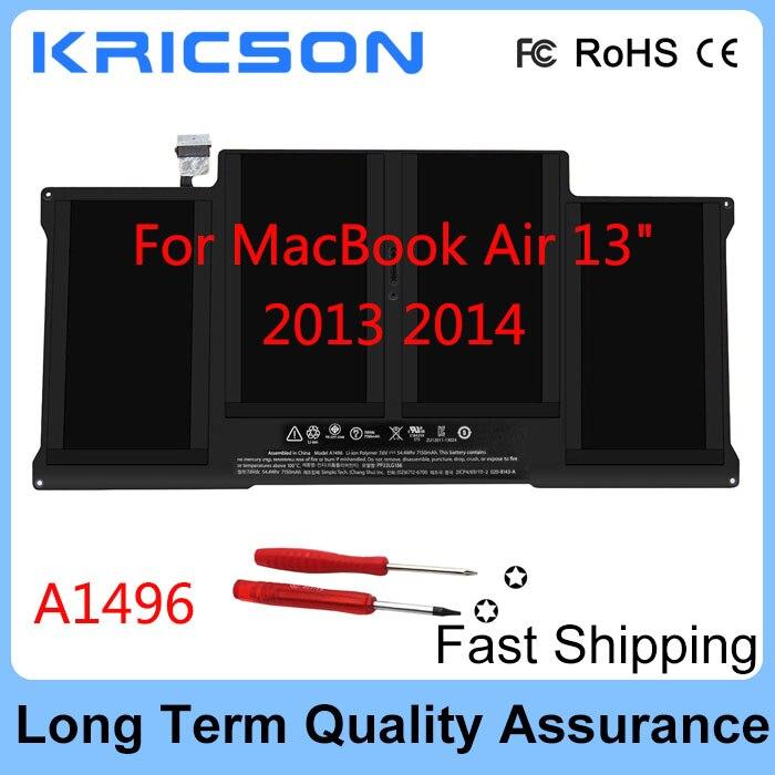 """Batterie originale nouvelle A1496 pour Apple MacBook Air 13 """"A1466 mi 2013 2014 A1496"""