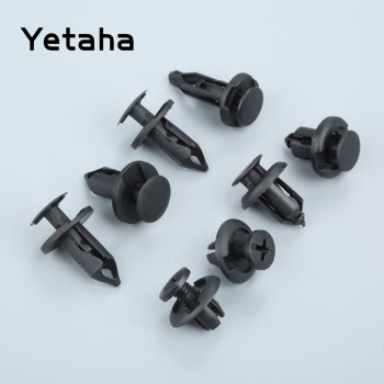 Yetaha 40Pcs Car Plastic Rivet Bumper Fender Retainer Fastener Mud Flaps Pin Push Clips For BMW Mercedes Nissan Toyota Chevy GMC image
