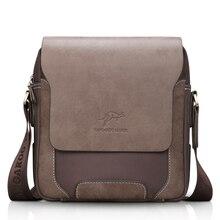 Мужская сумка мессенджер, винтажная, кожаная, через плечо