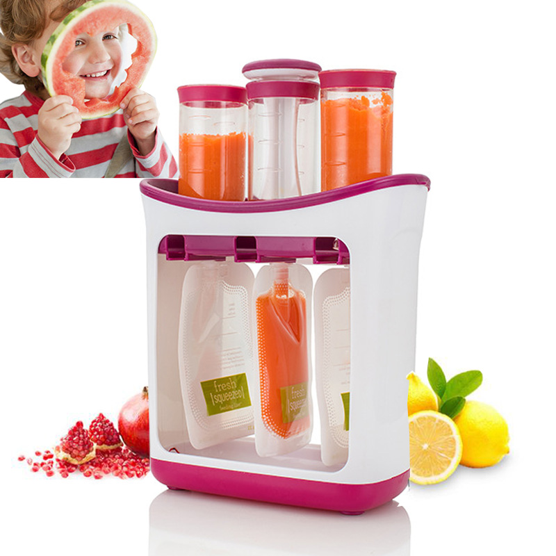 Baby Food Maker Organic Food Grinder For Newborn Fresh Fruit Juice Containers Storage Baby Silicone Kids Insulation Bags