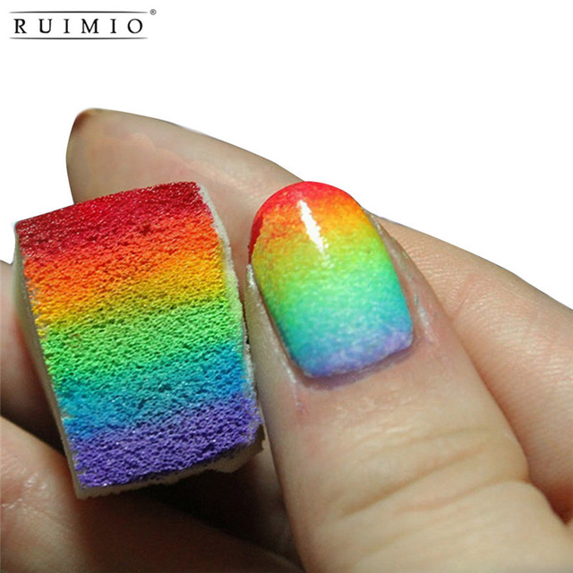 12pcs Gradient Nails Soft Sponges For Color Fade Manicure DIY ...