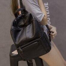 2017 neue mode PU rucksack weibliche Koreanische wasserdicht rucksack des studenten hochschule Englisch stil rucksack mädchen