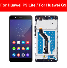 LCD For Huawei P9 Lite LCD For Huawei G9 LCD VNS-L21 VNS-L22 VNS-L23 VNS-L31 LCD Display Touch Screen Digitizer Assembly Frame(China)