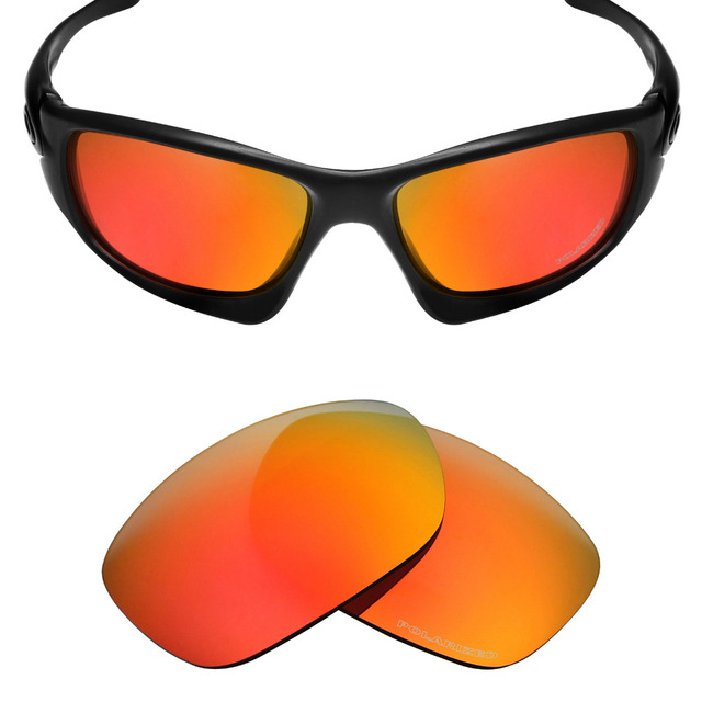 75b69d1af8f Mryok+ POLARIZED Resist SeaWater Replacement Lenses for Oakley Ten  Sunglasses Fire Red