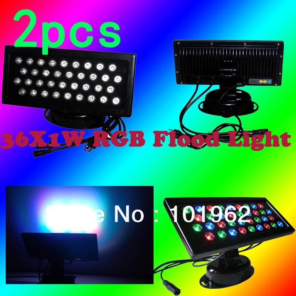 2pcs 36X1W RGB LED Wall Wash Flood Light Stage DJ Party Holiday Lighting