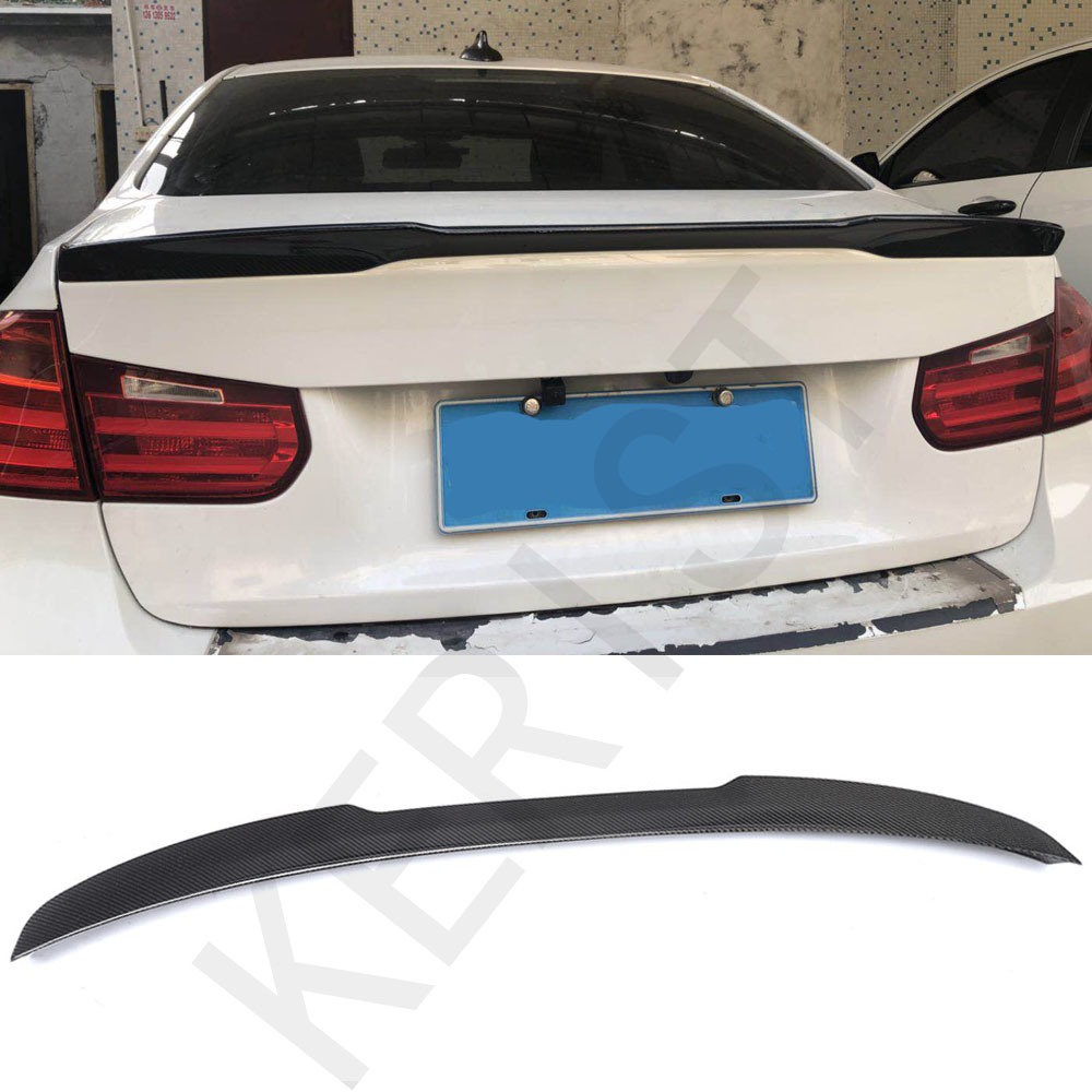 3 Series F30 Carbon Fiber Gloss Black Rear Trunk Spoiler Wings Trunk Lip for BMW F30 F80 M3 2012 2017 320i 325i 328i 335i|Spoilers & Wings| |  - title=