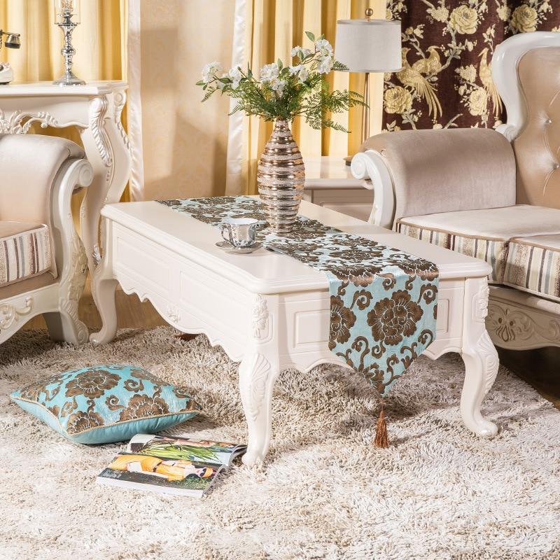 High Quality Luxury Velour Soft Flower Bronzing Retro Tea Dining - Home Textile - Photo 2