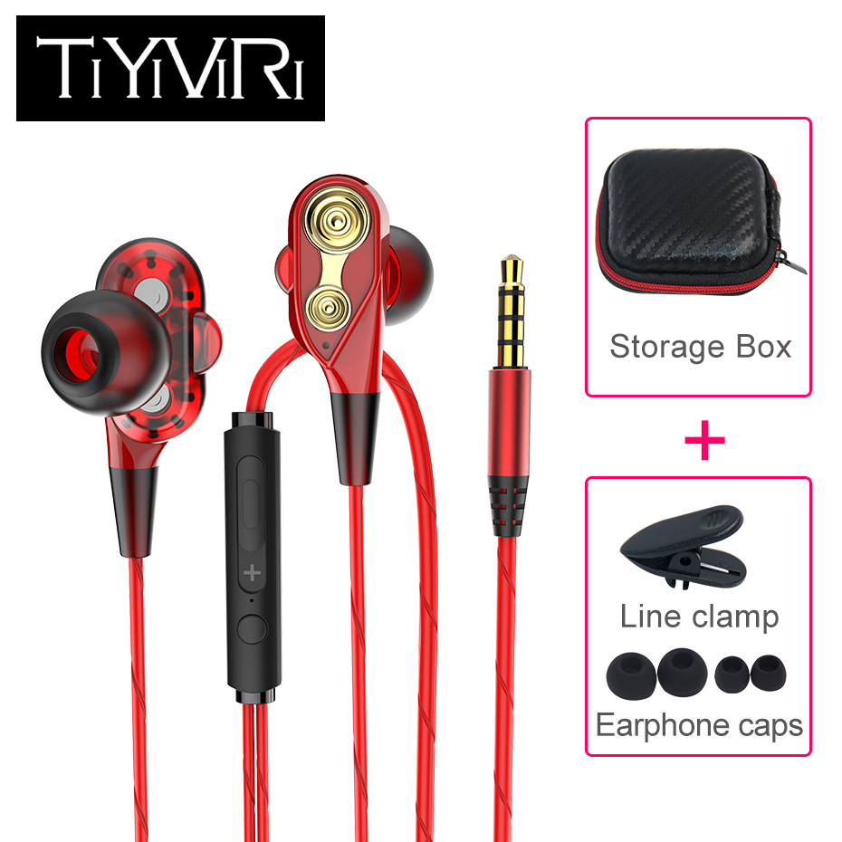 2019 Bass Stereo Wired 3.5mm Earphone Sports Running Headphone In Ear Wired Headset with Microphone for Iphone