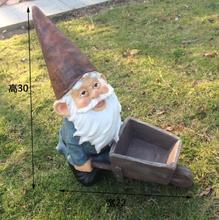 American Country Elf Dwarf Cart Home Farm Decoration Micro Landscape Gardening Decoration.Unique,High-30cm