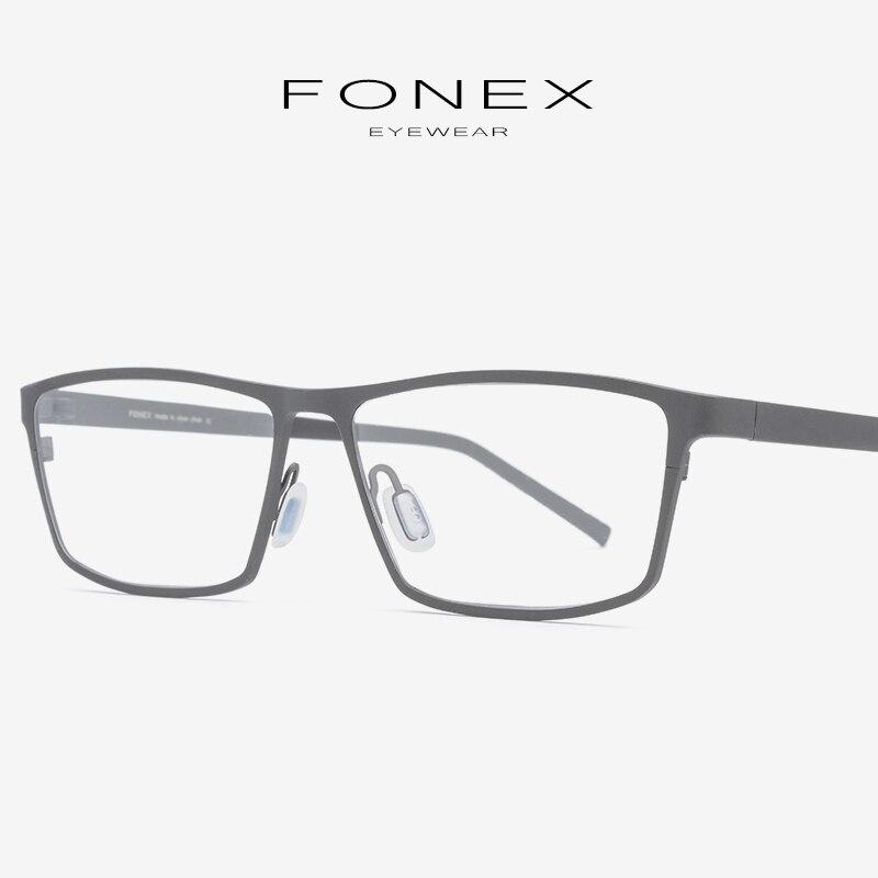 Pure Titanium Eyeglasses Frame 2019 Prescription Eye Glasses For Men Square Myopia Optical Glasses Frame Man Japan Eyewear 871