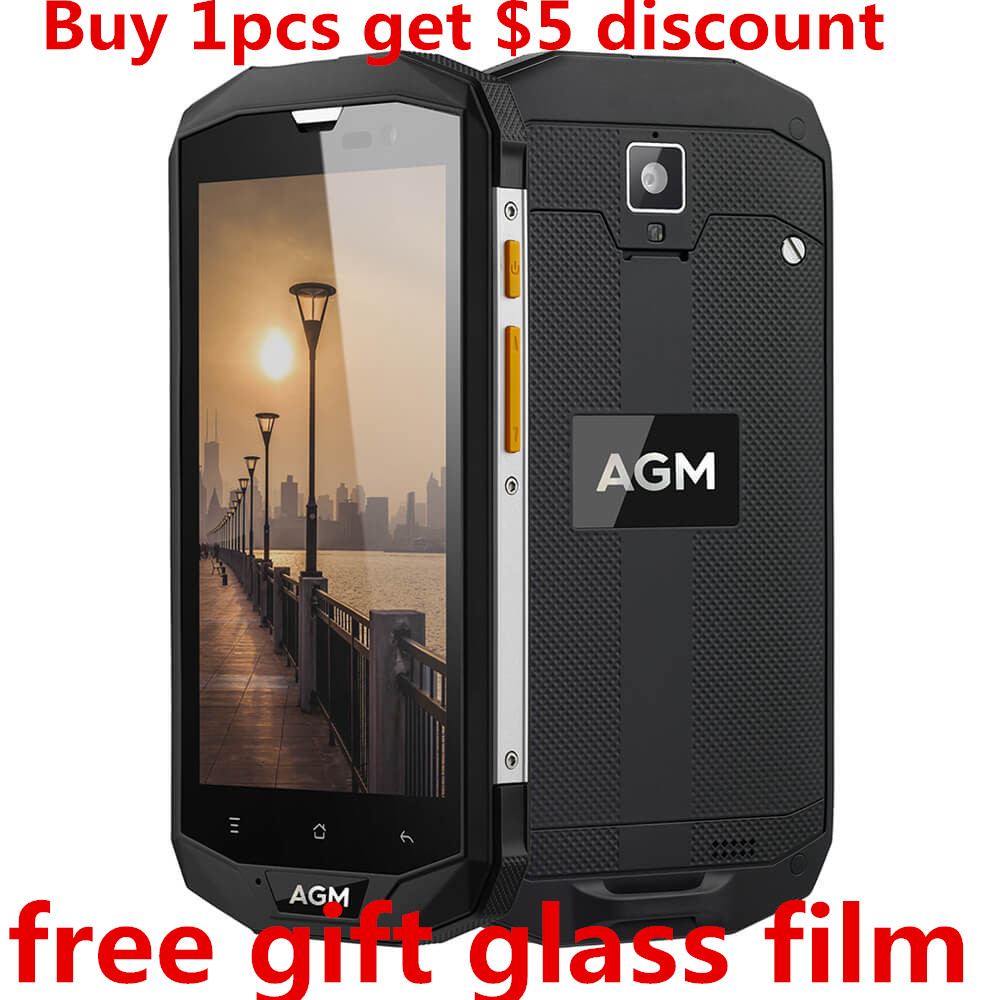 AGM A8 5.0 Inch Qualcomm MSM8916 IP68 Waterproof Android 7.0 4G LTE Mobile Phone 3GB/ 4GB RAM 32GB/ 64GB ROM 13.0MP smartphone