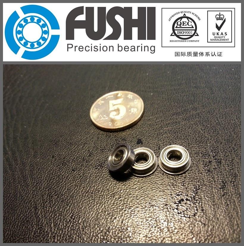 MF84ZZ Flange Bearing 4x8x3 mm ABEC-1 ( 10 PCS )  Miniature Flanged MF84 Z ZZ Ball Bearings mf63zz flange bearing 3x6x2 5 mm abec 1 10 pcs miniature flanged mf63 z zz ball bearings
