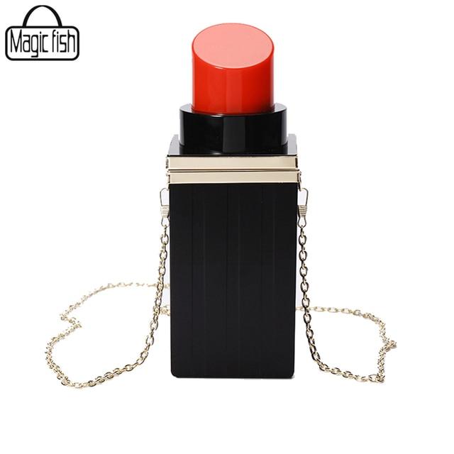 Lipstick Women Clutches Bag Fashion Women Handbag Female Tote Luxury Women Bag Party Evening Bag Women Messenger Bags C0280/l