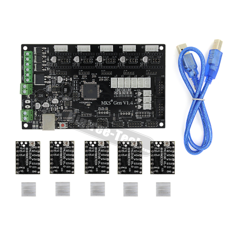 3D Printer Parts MKS Gen V1.4 Control Board Mega 2560 R3 Motherboard Ramps1.4 Compatible with USB and 5PCS BIGTREETECH TMC2100 mks gen v1 4 control board mega 2560 r3 motherboard reprap ramps1 4 compatible with usb and 5pcs a4988 for 3d printer