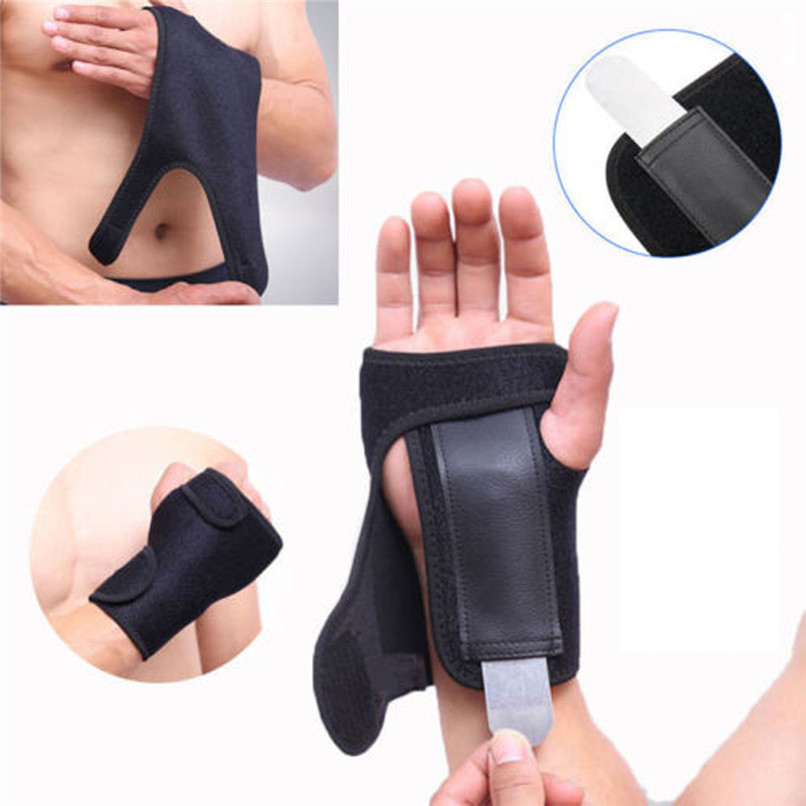 Unisex Wrist Hand Brace Support Carpal Tunnel Splint Arthritis Sprain Stabilizer Strap Left/Right Wrist Support Strap #2y04
