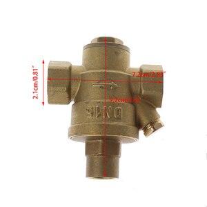 """Image 5 - Válvula reguladora de pressão dn15 1/4 """"dn25, válvula ajustável de latão para redução de pressão e envio gratuito"""