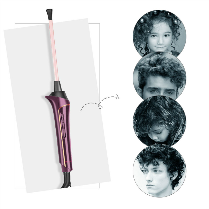 Image 3 - Professional Curling Iron Ceramic Hair Styler Hair Waver Styling Tools Hair Curler Wand Wave Electric Curling Small Slim Tongs-in Curling Irons from Home Appliances