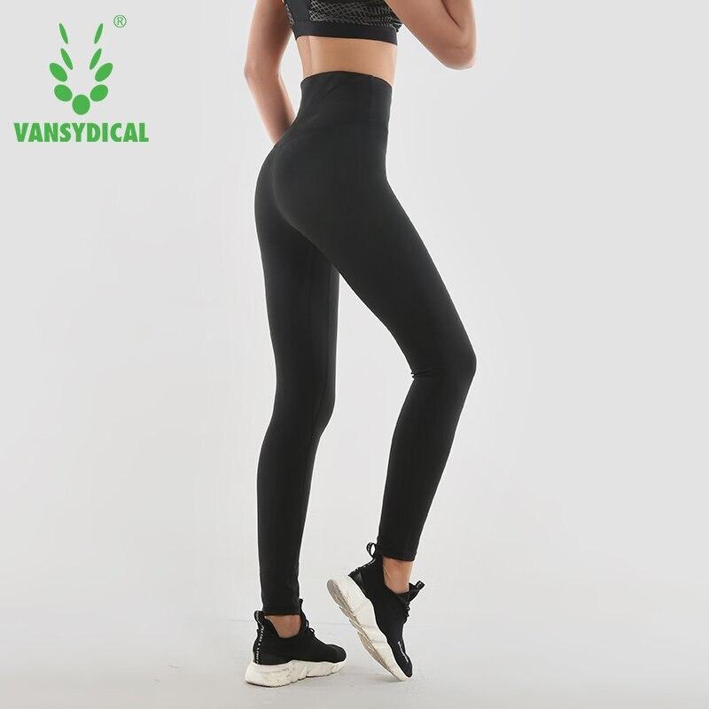 Vansydical 2018 Womens High-waist Running Pants Body Shapers Lose Weight Fat Burning Hot Sweat Sports Pants yoga Tights Legging