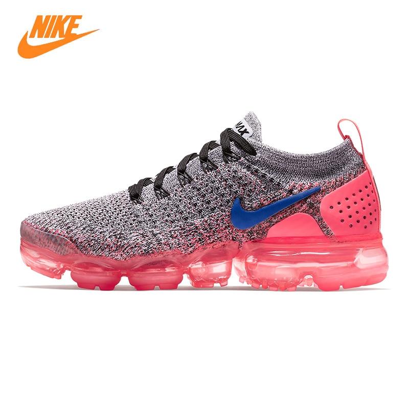 Nike Vapormax Flyknit Chaussures de Course de 2.0 Femmes, rose et Gris, choc-absorbant Non-slip Respirant 942843 104