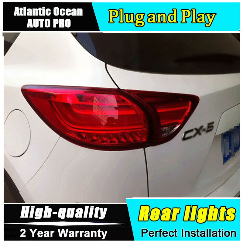 JGRT for Mazda CX-5 LED taillights Mazda CX-5 rear lights 2013-2015 led rear trunk Fog lamp+signal+brake+reverse car styling car styling tail lights for toyota highlander 2015 led tail lamp rear trunk lamp cover drl signal brake reverse
