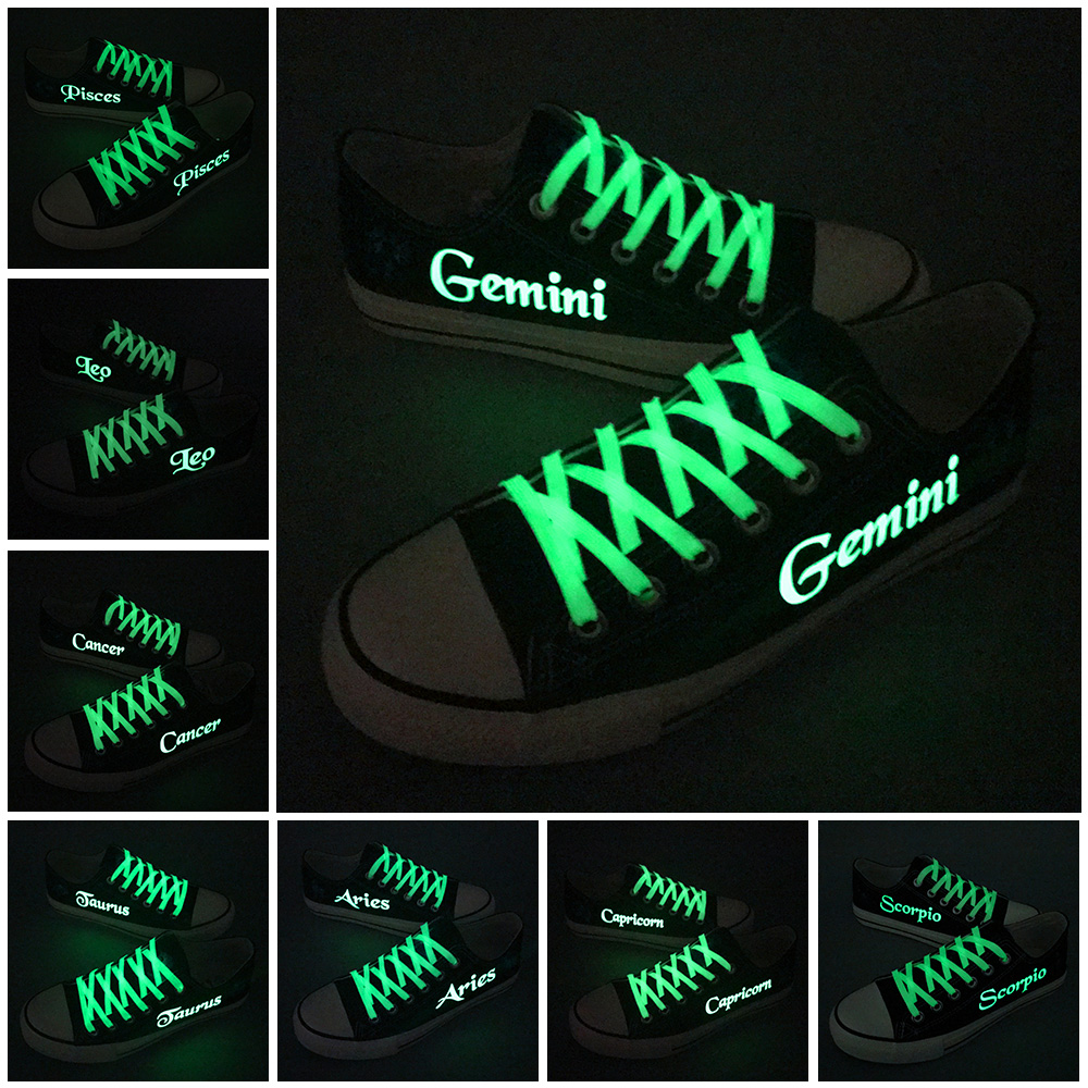 12 Kinds Starry Constellation Printed Canvas Shoes Low Top Men Boy Casual Leisure Shoes Customzied For Couples Zapatos Hombre