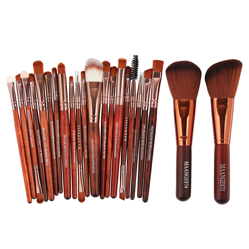 New Pro 22Pcs Cosmetic Makeup Brushes Set Bulsh Powder Foundation Eyeshadow Eyeliner Lip Make Up Brush