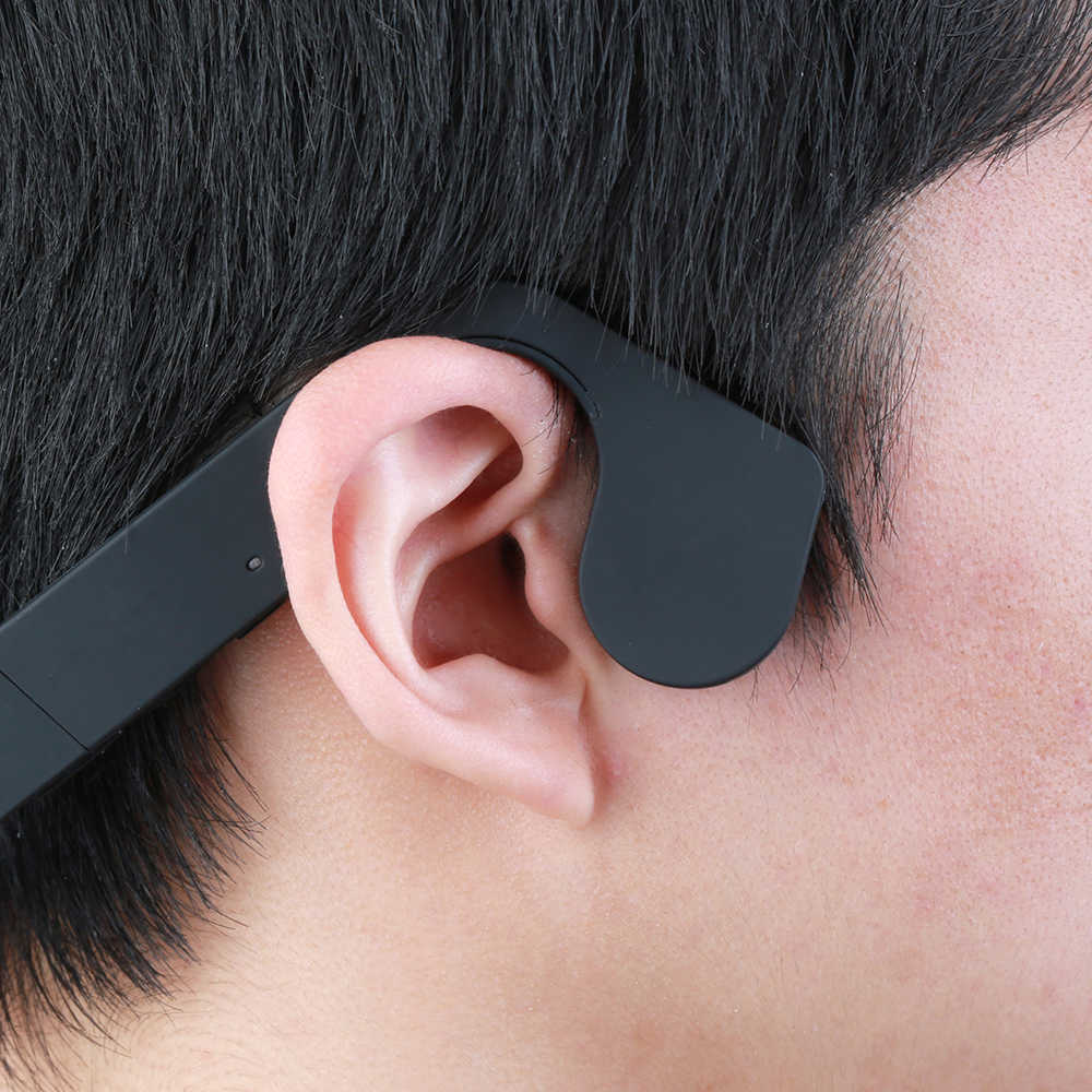 Vapeonly z przewodnictwem kostnym sportowe słuchawki bluetooth bezprzewodowe słuchawki sportowe w/Mic Stereo zestaw głośnomówiący do telefonu komórkowego PC