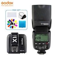 Godox TT600 софтбокса Speedlite Flash Беспроводной 2,4G + X1T N передатчик Беспроводной вспышка триггера фотографии для Nikon D800 d700 D7100