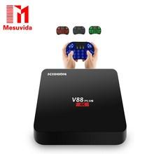 SCISHION V88 Plus Android TV Box 4K 2G+8G Android 5.1 Quad-core Rockchip 3229 WiFi Support VP9 H.265 Set Top Box Mini PC V88 Pro