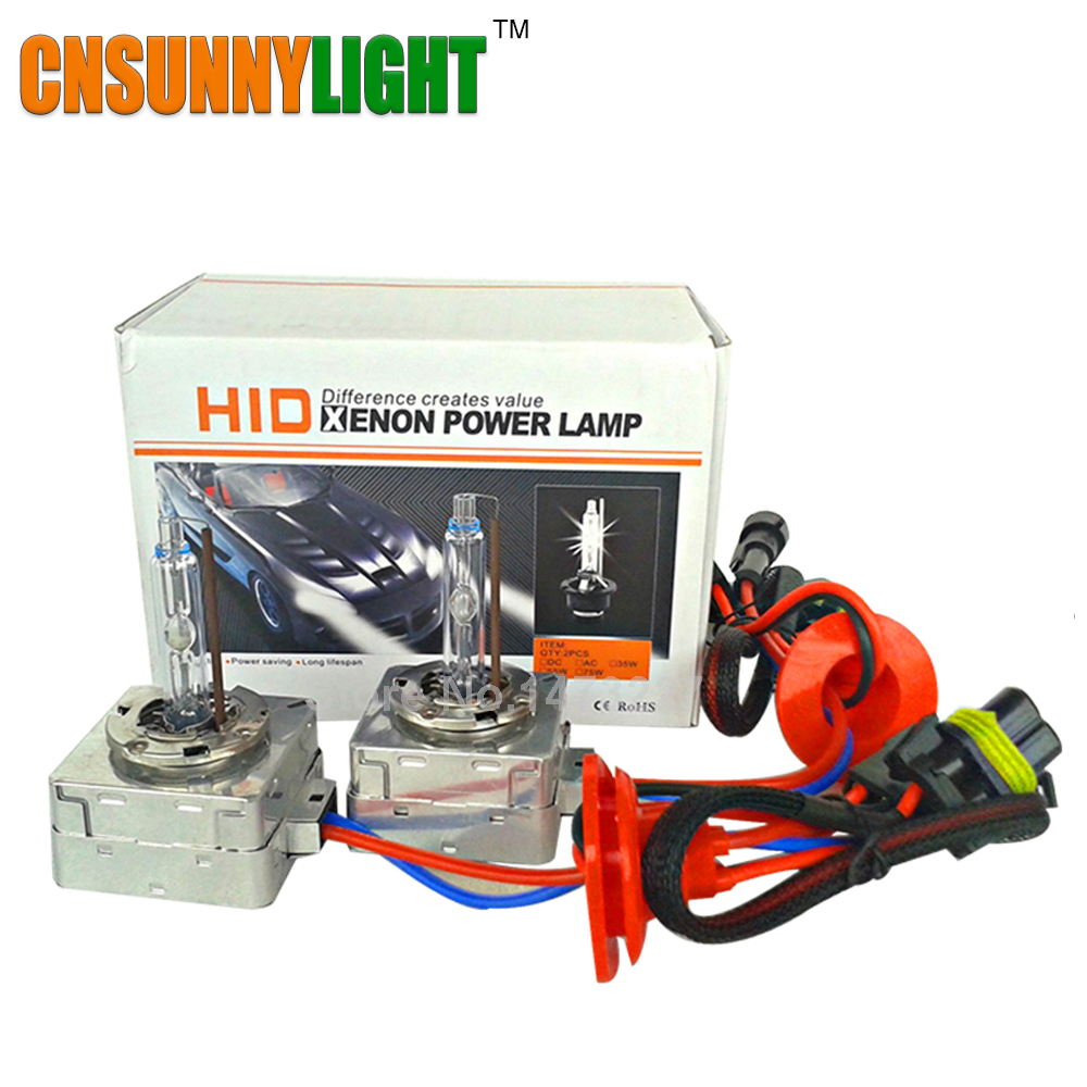 CNSUNNYLIGHT D5S Hid Xenon Globe Bulb 5500K Replace for VW New Tiguan New Superb KIA K3 Buick XT Excelles Cars Headlight Lights