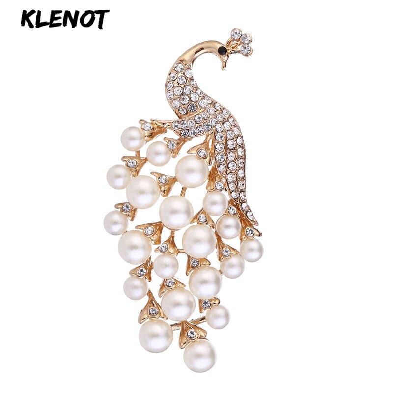 Elegante pérola pavão buquê broche animal pavão broche pinos strass pena broches feminino casamento nupcial festa jóias