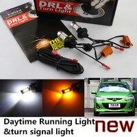 Freies verschiffen AUTO für mazda2 mazda3 mazda5 LED Tagfahrlicht licht & blinker licht alle in einem 20 watt high power 5 farben