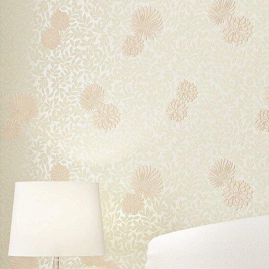 Compre rosa floral para meninas quarto - Papel para revestir paredes ...