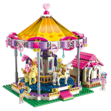 City Girls Princess Fantasy Carousel Building Blocks Sets Bricks Model Kids Classic Compatible With Legoings Friends 10257 hot new girl city princess villa windsor castle building blocks sets bricks classic model kids gift toy legoings friends