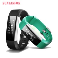 Bluetooth Smart Wristband Bracelet Fitness Sleep Tracker Pedometer Heart Rate Monitor for OPPO R11 Plus R9s Plus R7s R7 R9 Plus
